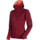Mammut Ultimate V SO Hooded Jacket Women merlot-barberry melange